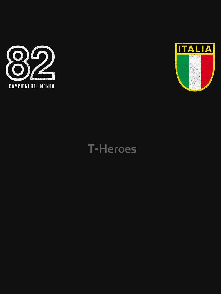 RedBubble: Italia '82, World Champions, Campioni Del Monde - Retro 80's style soccer fan shirt, calcio, futbol