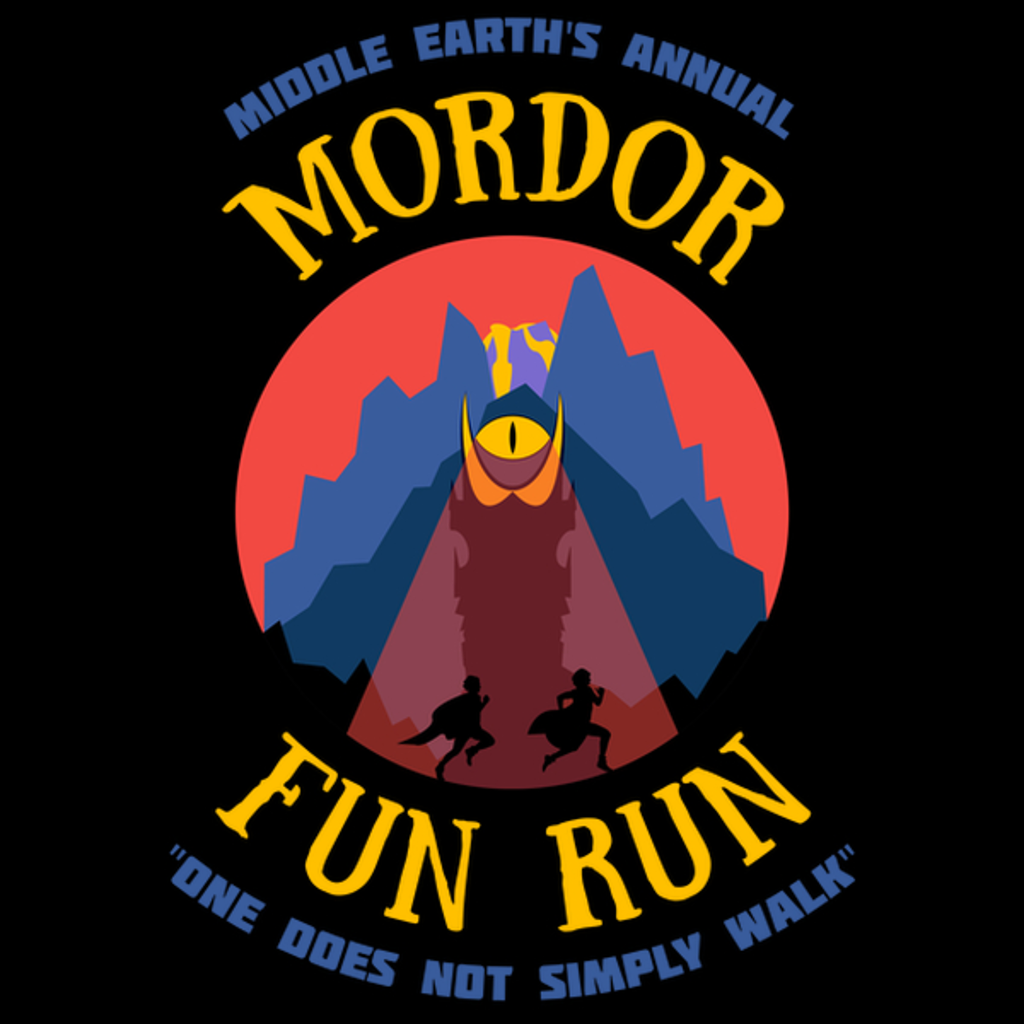 NeatoShop: Annual Mordor Fun Run One Does Not Simply Walk Shirt Running
