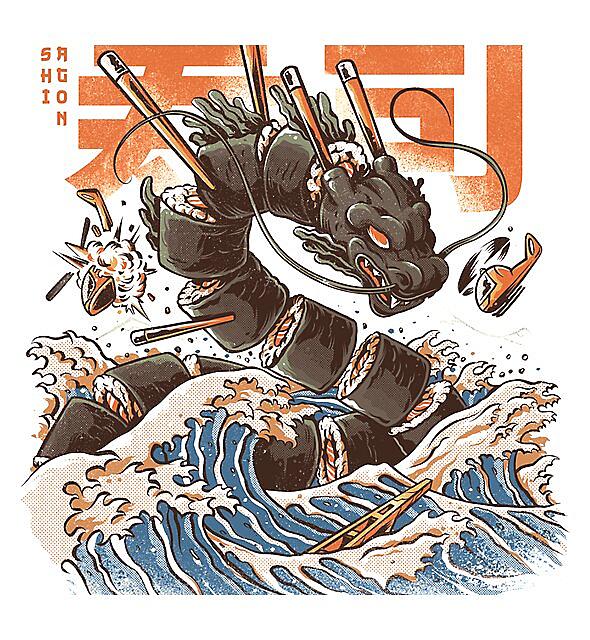 RedBubble: Great Sushi Dragon