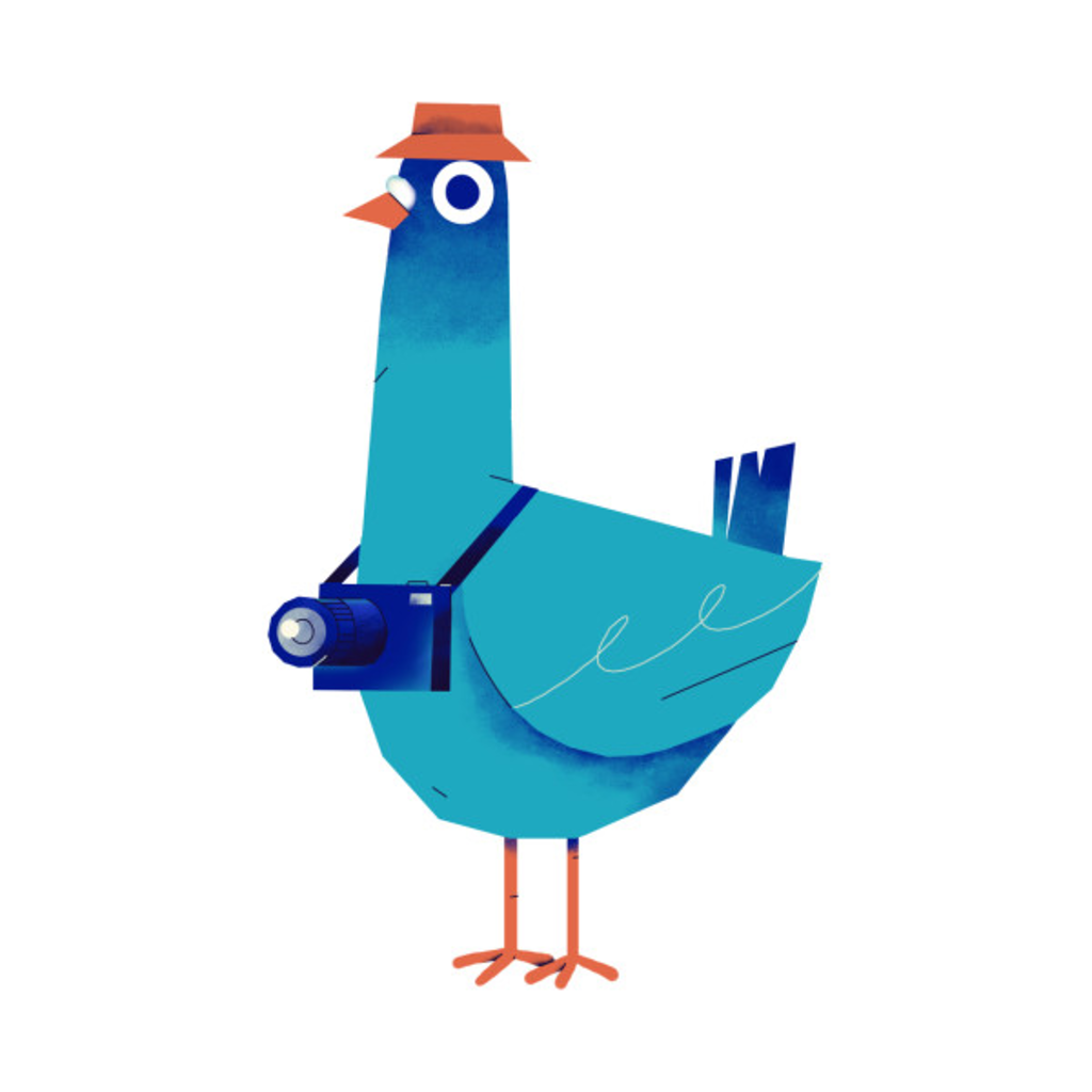 TeePublic: Tourist pigeon who love traveling and take some photos