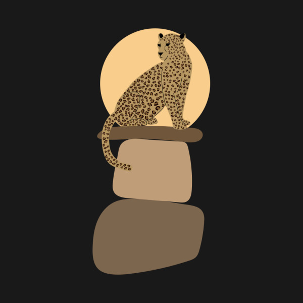 TeePublic: Leopard on the rocks