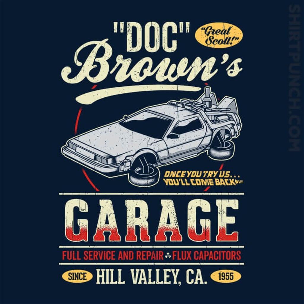 ShirtPunch: Doc Brown's Garage