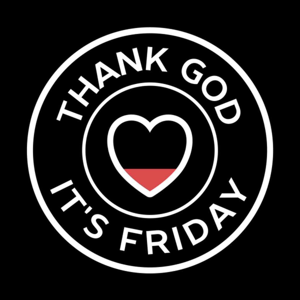 NeatoShop: Circle Minimal Thank God It's Friday