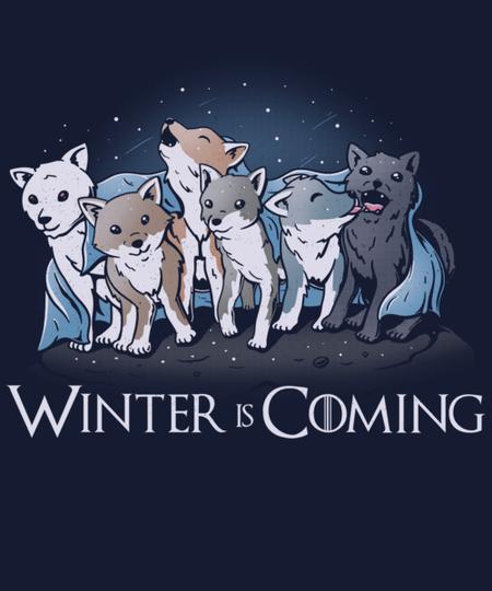 Qwertee: Winter Wolf
