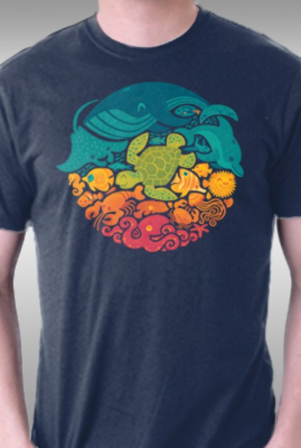 TeeFury: Aquatic Rainbow