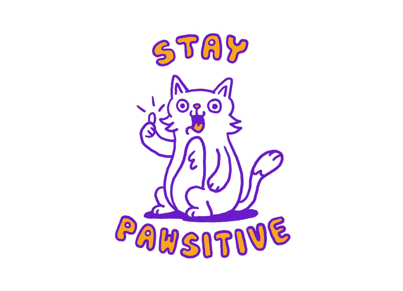 Threadless: Stay pawsitive