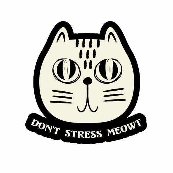 BustedTees: Don't Stress Meowt Mug