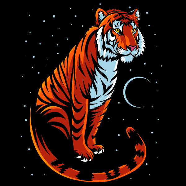 NeatoShop: Tribal Tiger Long tail