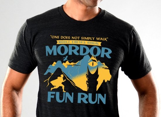 SnorgTees: Mordor Fun Run Limited Edition Tri-Blend