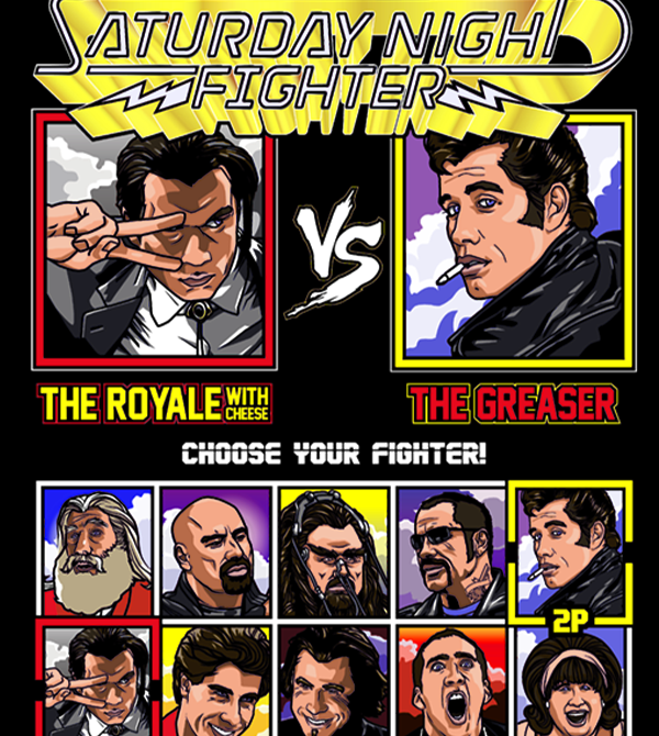 teeVillain: Saturday Night Fighter