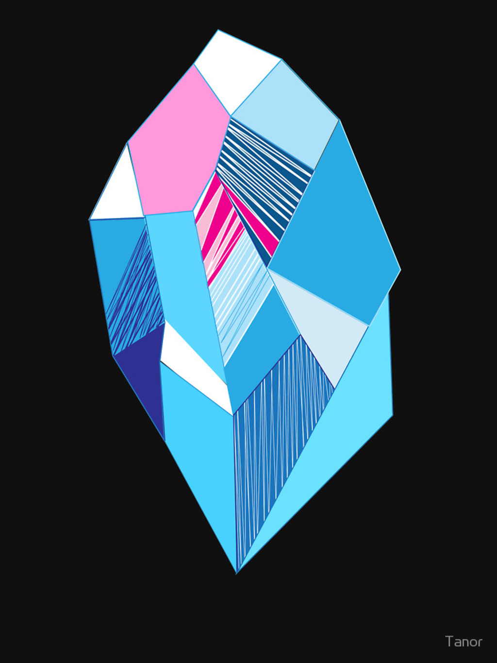 RedBubble: Bright pattern crystals