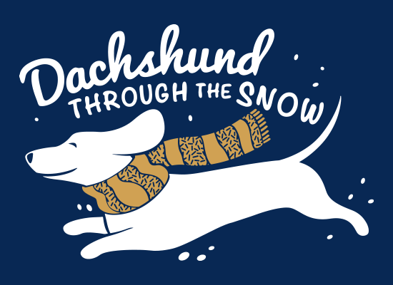 SnorgTees: Dachshund Through The Snow