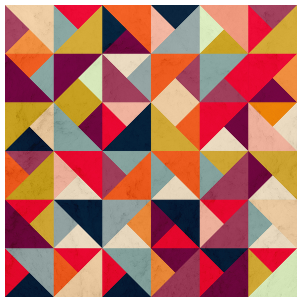 NeatoShop: Bright Geometric Happy Pattern