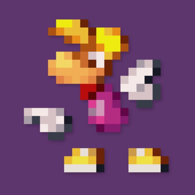 TeePublic: Rayman low-res pixelart