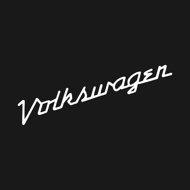 TeePublic: Vintage VW script