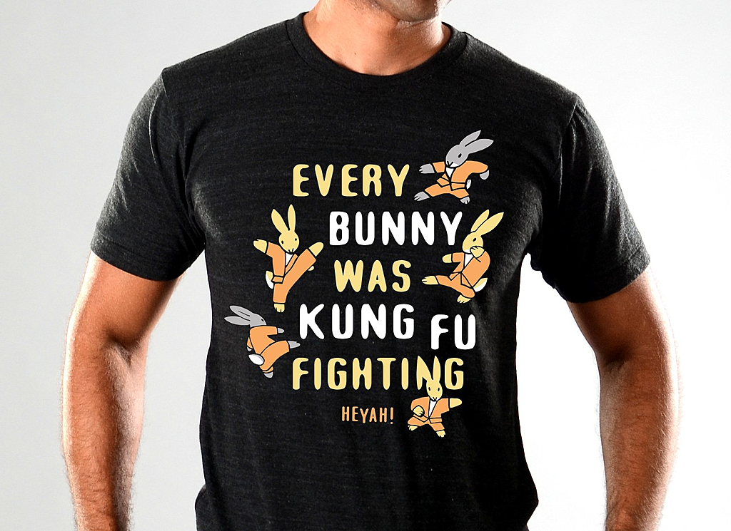 SnorgTees: Every Bunny Was Kung Fu Fighting Limited Edition Tri-Blend