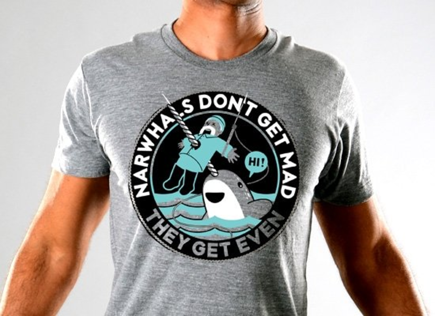 SnorgTees: Narwhals Don't Get Mad Limited Edition Tri-Blend