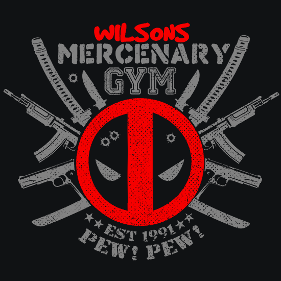 Textual Tees: Deadpool Mercenary Gym