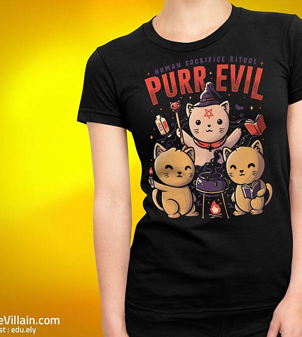 teeVillain: Purr Evil