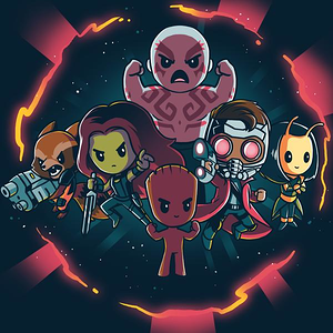TeeTurtle: Marvel Guardians of the Galaxy Shirt