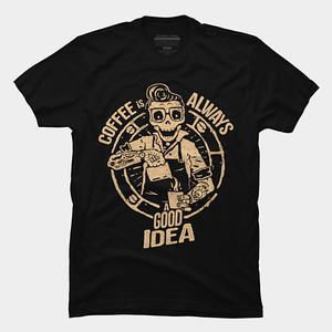Design by Humans: Skull barista
