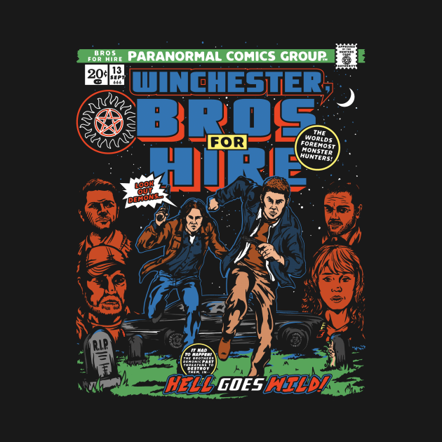 TeePublic: Winchester bros for hire