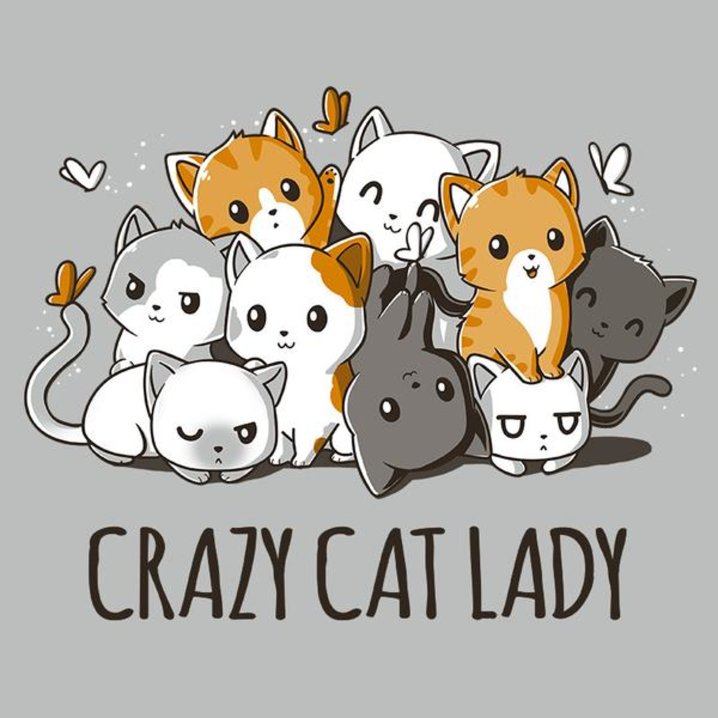 TeeTurtle: Crazy Cat Lady