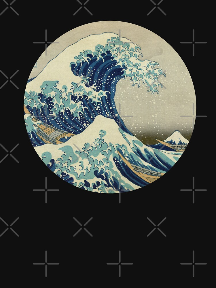 RedBubble: Hokusai Kaiju T-Shirt