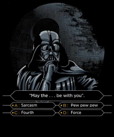 Qwertee: Darth wants to be a millionaire