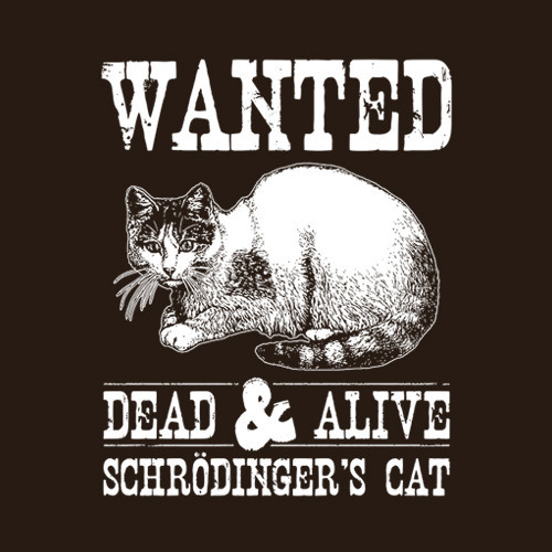 Five Finger Tees: Wanted Dead & Alive Schrödinger's Cat T-Shirt