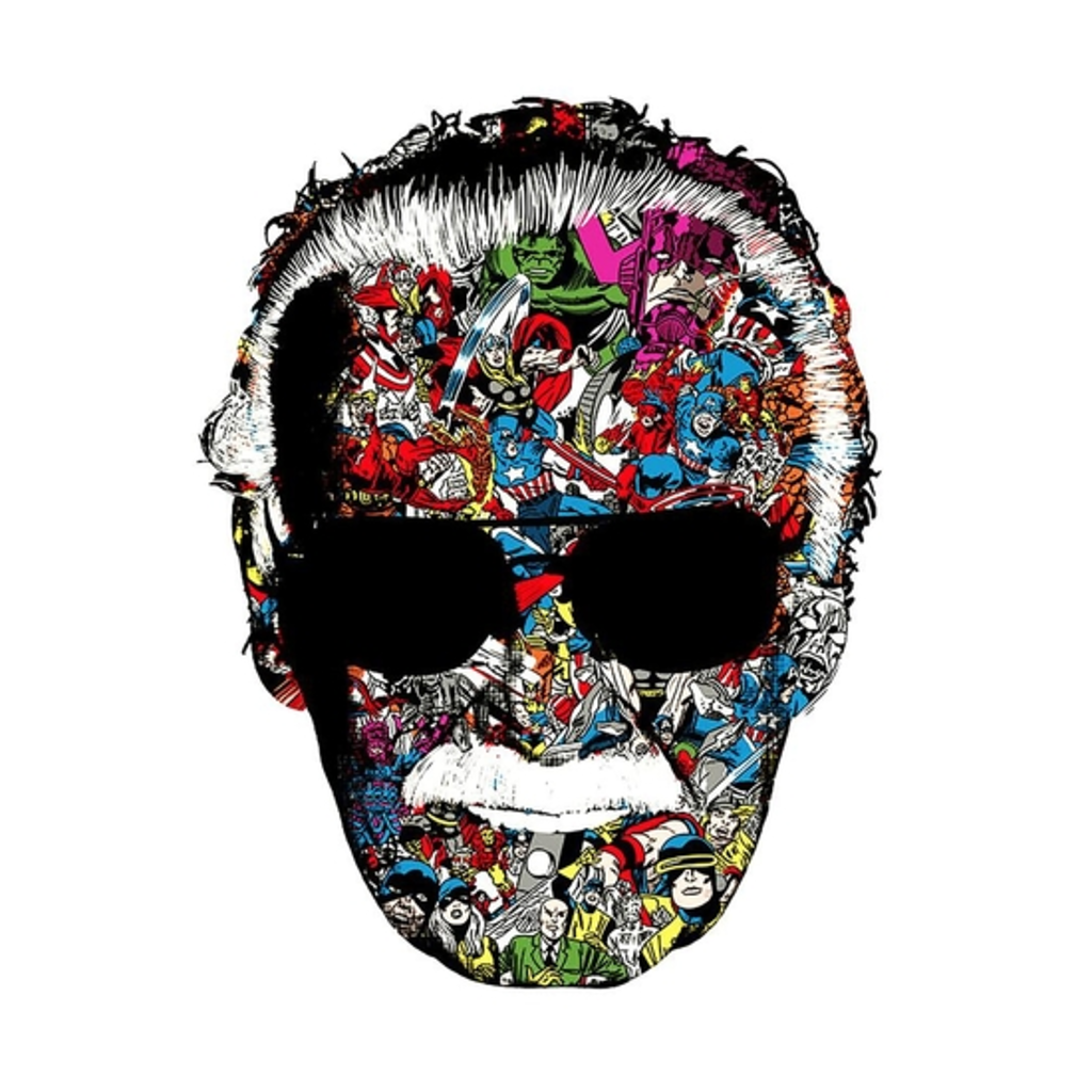 BustedTees: Stan Lee Man of Many Faces Shirt
