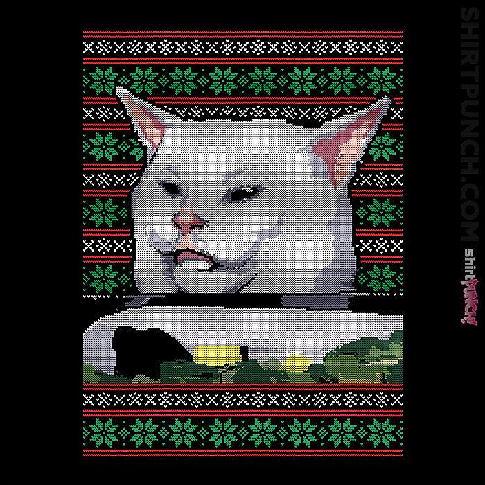 ShirtPunch: Cat Getting Yelled At Sweater