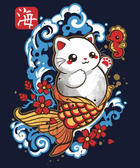 Qwertee: cat mermaid