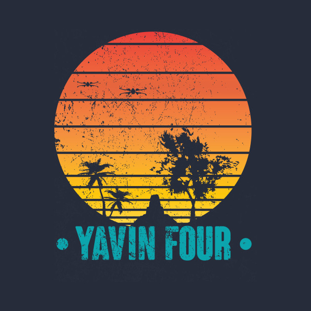 TeePublic: Visit Tropical Yavin Four T-Shirt