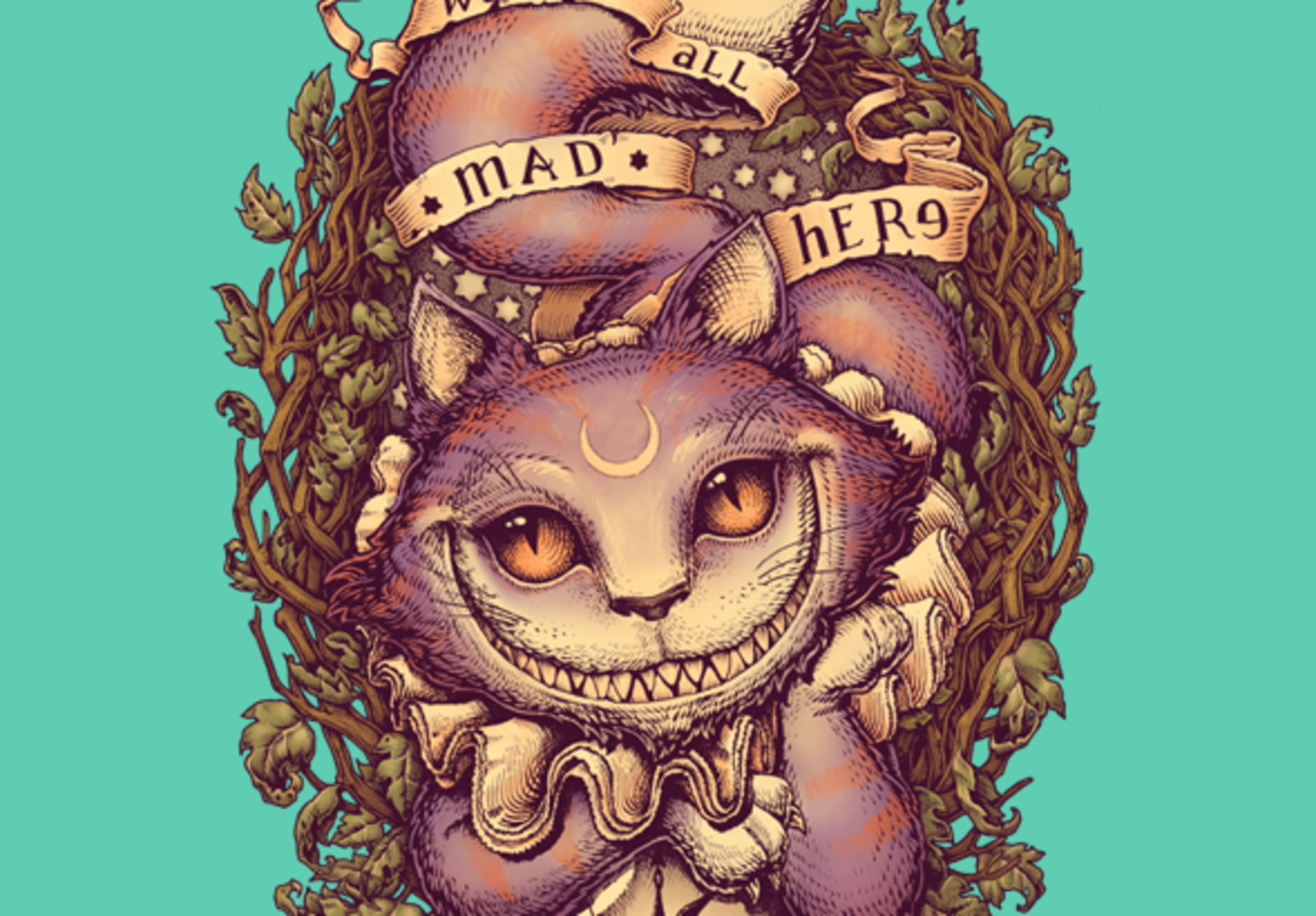 teeVillain: We Are All Mad Here