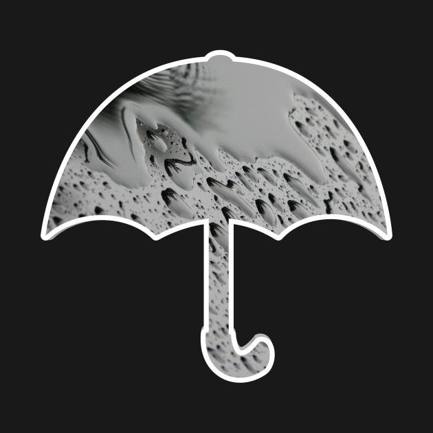 TeePublic: Umbrella in the rain