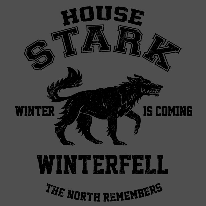 We Heart Geeks: Winter is Coming (Black) - Men's T-Shirt