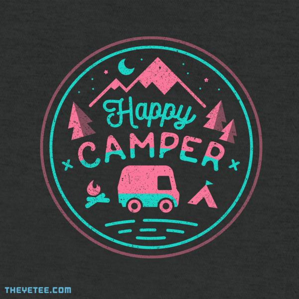 The Yetee: Happy Camper (Heather)