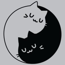 Textual Tees: Ying Yang Cats