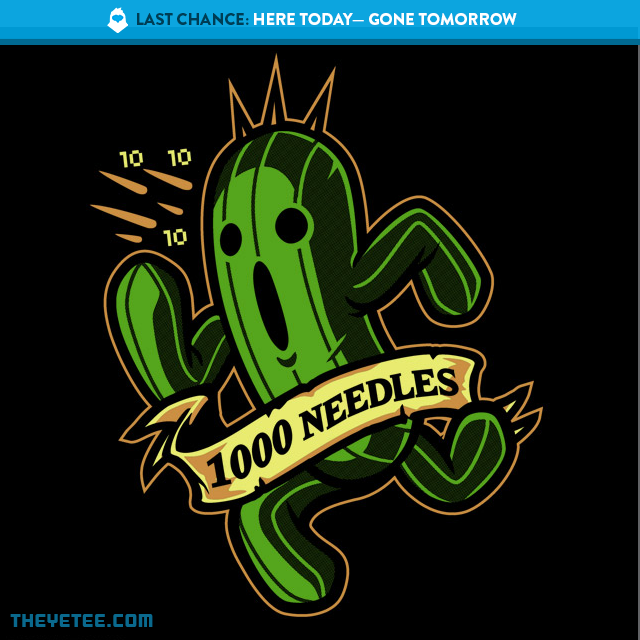 The Yetee: LAST CHANCE: 1000 Needles