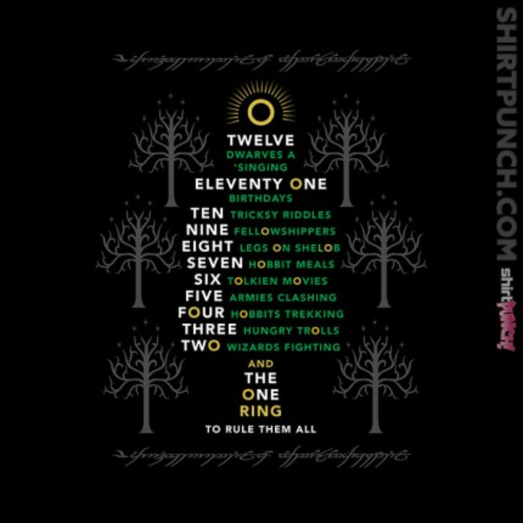 ShirtPunch: Middle Earth Xmas