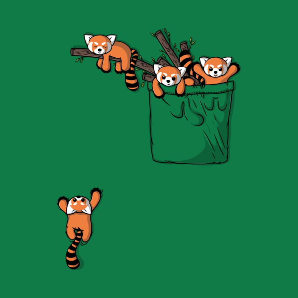 TeePublic: Pocket Red Panda Bears