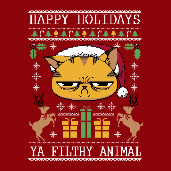 NeatoShop: Ugly Holiday Sweater Cat