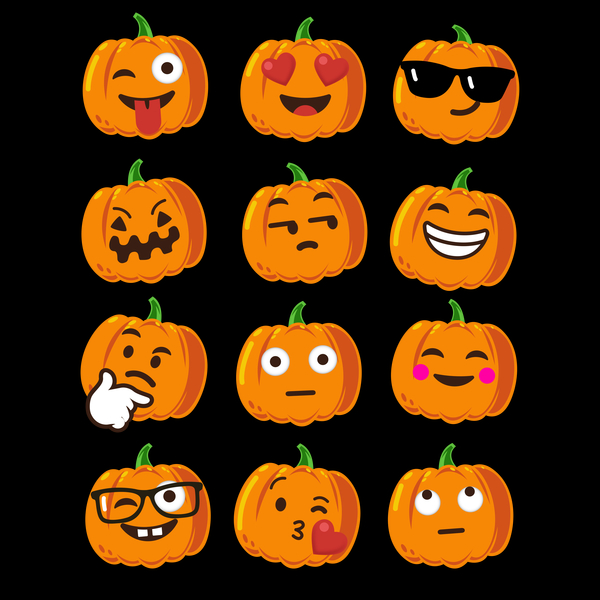 NeatoShop: Pumpkin Emoji Faces T-Shirt Emoji Halloween Costume 2
