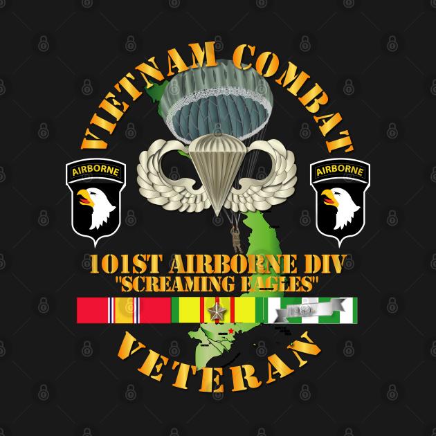 TeePublic: Vietnam Combat Veteran w 101st Airborne Div SSI V1