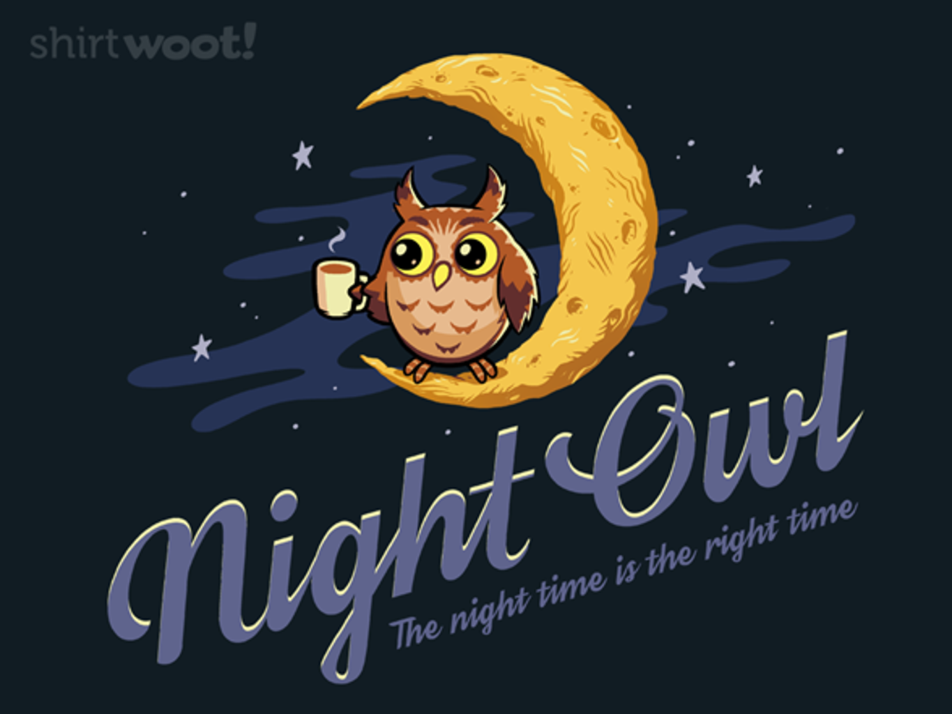Woot!: Night Time is the Right Time - $15.00 + Free shipping