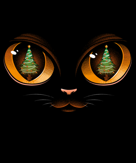 Qwertee: Xmas Cat Attack