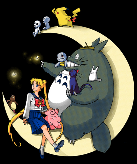 Qwertee: Moonlight Buddies