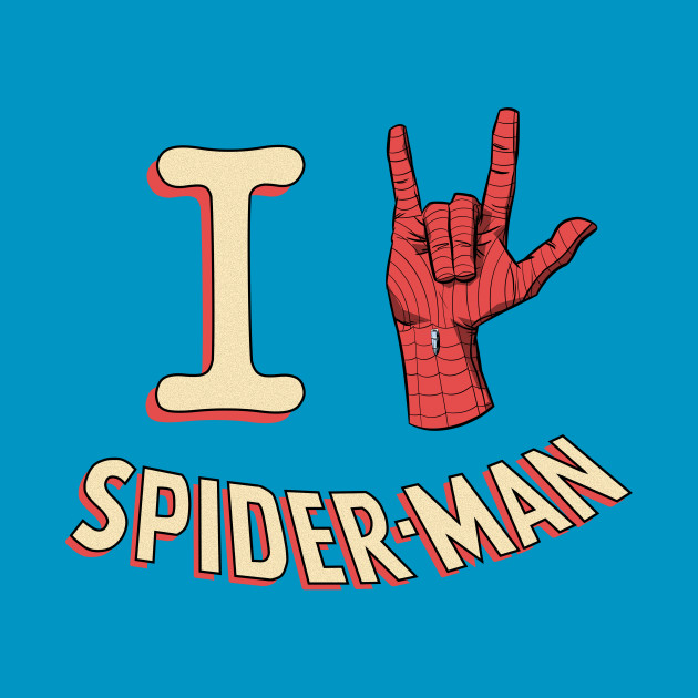 TeePublic: I Love Spider-Man (Classic) T-Shirt