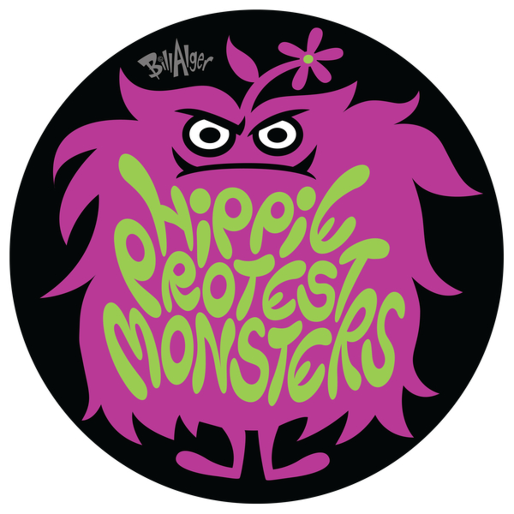 NeatoShop: Hippie Protest Monsters: Angry Logo